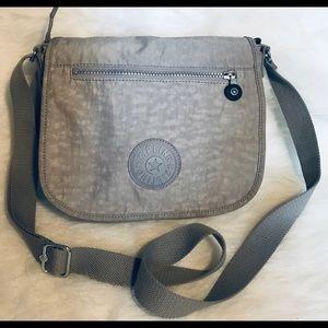 Kipling gray crossbody handbag